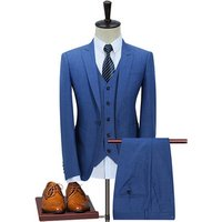 High Quality Royal Blue Formal Office Suit Men Suit Wool Coat Pant Men Suit