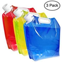 '2019 Foldable 5 Litres Collapsible Water Container Bpa Free Plastic Water Carrier Folding Water Bag Set Of 3 For Outdoor Camping