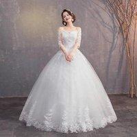 Ball Gown Applique 2019 Bridal Vestido De Novia Princess New Hot Long Sleeve Wedding Dress