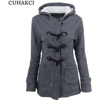 CUHAKCI 2018 New Parkas Women Thickening Coat Cotton Parka Hoodies Jacket Womens Outwear Parkas For Winter S-6XL
