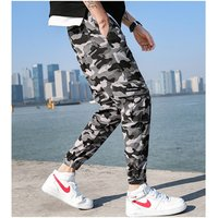 Fashion Camouflage Punk Style Mens Jogger Pants Youth Streetwear Hip Hop Jeans Men Big Pocket Cargo Pants Harem Trousers Homme