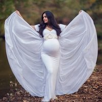 New Arrival  Maternity Clothing Gown Dresses For Photography Sexy Europe Ladies Pregnant Maternity Photo Shoot Dresses Wear