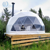 Mid-Year Sale In-stock Diameter 6m Geodesic Glamping Dome Tent