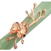 decorative rose gold metal napkin rings