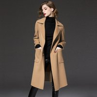 Factory price wholesale warm winter women wool coat