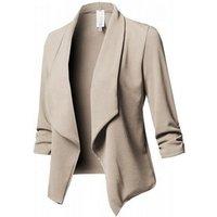 Repair the body pleat cotton coat lapel long sleeve lady jacket