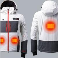 Custom Man Rain Ski Waterproof Heated Jacket Outdoor Snow Winter Coat Windbreaker