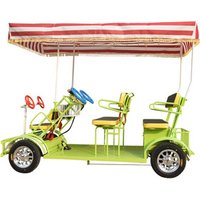 Bestselling Family Style Quadricycle Surrey Sightseeing Aluminium Tandem Electric Bicycle