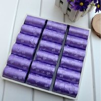 Transer Pet Supply 1Rolls 15pcs Printing Cat Dog Poop Bags Outdoor Home Clean Refill Garbage Bag