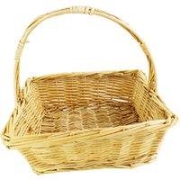 Willow Magazine Wicker Fruit Felt Storage Basket