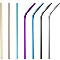 Stainless Steel Straws Reusable Metal Straws For Tumblers Rumblers 7 Colors 267x6mm Straight/Bent Straws