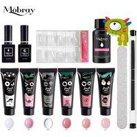 Mobray nail extension acrylic gel uv box 15ml poly gel polish set