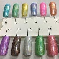 2015 New Gel in bulk Rainbow hologram change Nail Gel Polish