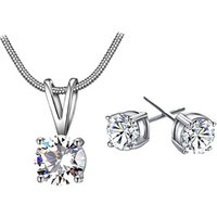 2018 Hainon necklace earrings jewelry set for women wedding new style plating 925 silver value jewelry set factory