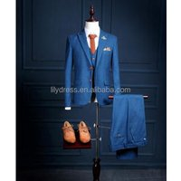 Custom Made Royal Blue Men Suit Tailor Made Bespoke Blue Wedding Suits For Men Slim Fit Groom Tuxedos Suits For Men NA20