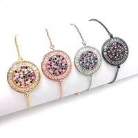 Custom fashion jewelry new gold silver charm bangle bead adjustable chain handmade bracelet design women