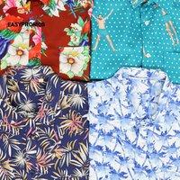 Custom Short Sleeve Men Beach Casual Party Printed Rayon Hawaiian Shirt Mens Print Patterned Shirt Button Up Shirts for Men