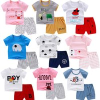 Papa Care Soft Baby Boy Girl Clothes Summer Cotton Sleeve Outfits Set Tops and Short Pants Infant Clothing