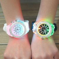 School Boy Girl Watches Electronic Colorful Light Source Sister brother Birthday kids Gift Clock Fashion Childrens Wrist Watch