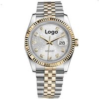 Hot Sell Classic Rolexables  Domed Sapphire Glass Luxury Curve Wrist Watch For Men