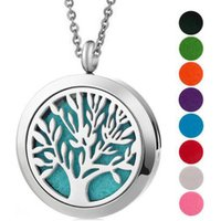 'Hot Sale Silver Jewelry 30mm Magnet Aromatherapy Essential Oil 316 Stainless Steel Perfume Diffuser Locket Necklace With Chain