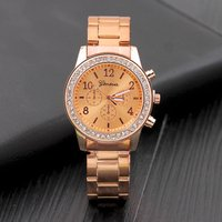 China factory wholesaler geneva whatch women quartz wrist watch geneva relojes geneva watches for women relojes para hombre