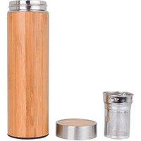 Wholesale Vacuum BPA Free Natural Bamboo Tumbler Water Bottle Tea Infuser