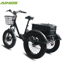 aimos 2018 3 wheel electric bicycle three wheels adult cargo electric bike with basket
