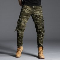 2019 Mens Camo Cargo Pants with Side Pockets Tactical Military Camouflage Cargo Trousers Hiking Pants Wholesales