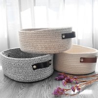 APHACATOP High Quality Home Cotton Rope Storage Basket woven rope basket