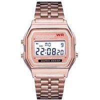 3839  Vintage Digital Wristwatches LED Digital Waterproof Quartz Wrist Watch Dress Golden Wrist Watch Women  Men watch