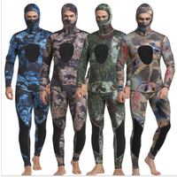 New Design 3mm Neoprene Long Sleeve Swimming Surfing Camouflage Diving Suit
