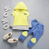 3Pcs Set Kids Baby Boys Girls Clothing Set Striped Hoodies Sweatshirt Vest Tops+T Shirt+ Pants Outfits Toddler Winter Warm Cloth