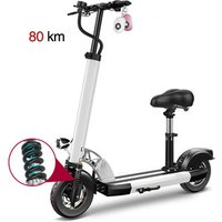 10 inch electric scooter portable folding mini adult shock absorber bicycle driving two-wheels lithium battery scooter