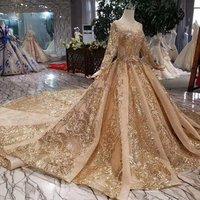Jancember LSS440 evening dress high quality casual dress long sleeves gold sequin dress