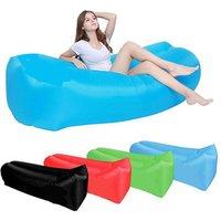 'Outdoor Fast Folding Camping Mat Waterproof Beanbag Bed Beach Chair Lazy Air Sofa Lightweight Inflatable Lounger Sleeping Bag