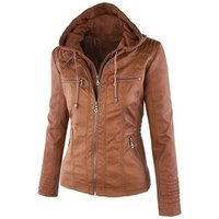 Stock Wholesale PU Ladies Fancy Leather Jacket From China Factory