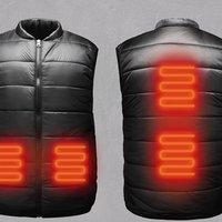 USB Winter Heated Warm Vest Men Women Heating Coat Jacket Clothing