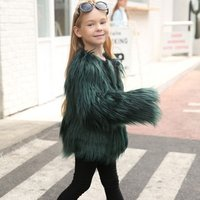 New modern cute children cheap fur clothing kids clothing wholesale kids winter fur coats mongolian faux fur coat