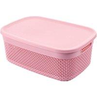 Square keyway plastic storage box home storage basket with lid
