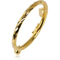 50527 xuping simple gold plated bangle design for baby
