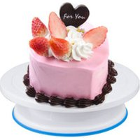 Plastic Cake Plate Baking Rotary Table Cakes Decorating Turntable Anti-skid Round DIY Kitchen Dessert Bakeware Tool