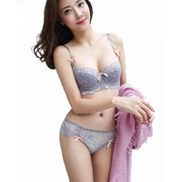 Sexy lace transparent bra brief set see through lace hot underwear set for ladies