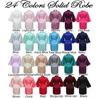 24 Colors Kimono Robes womens robe, bride bridesmaid silk satin kimono robe 6010