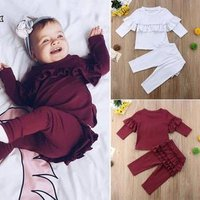 BB010A New arrival infant girls winter clothes cheap newborn baby girl clothing set