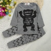 2019 Baby Boutique Wholesale Wear Suit Body Child T-shirt Spring Cloth T Shirt Kid Night 100% Cotton Boy Set Clothing