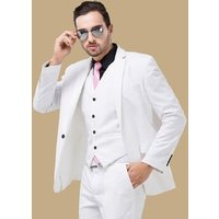 Fashion Man Blazers Groom Wedding Dress Men White Suit