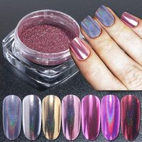 Laser Mirror Powder Nail Glitter Dust Nail Art Chrome Pigment Shiny Gel Polish DIY Holographic Glitter Decoration Manicure