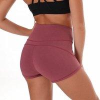 Custom booty spandex four way stretch high waisted yoga shorts women