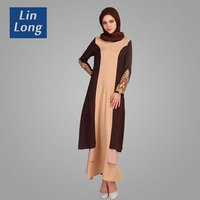 Egypt Abaya Wholesale Islamic Women Muslim Dresses Long Sleeves Kaftan Abaya